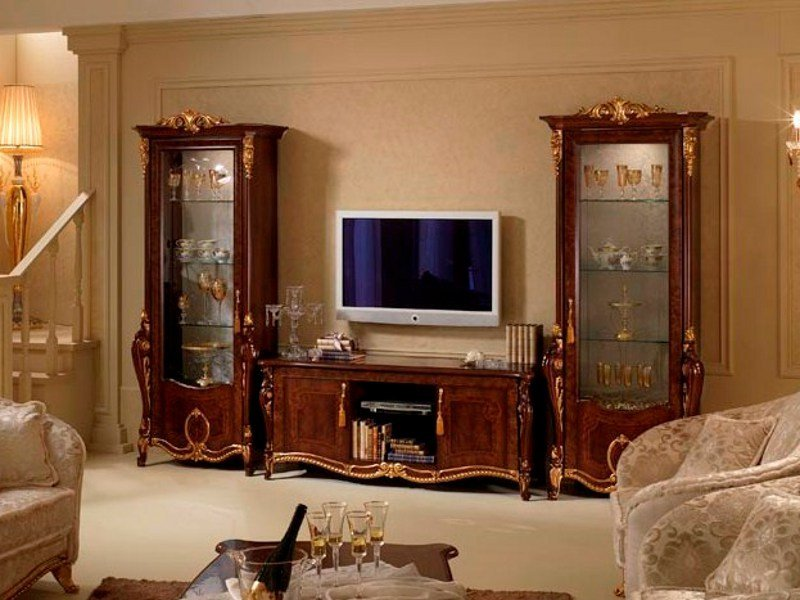 Classic style wooden TV cabinet DONATELLO | TV cabinet by Arredoclassic
