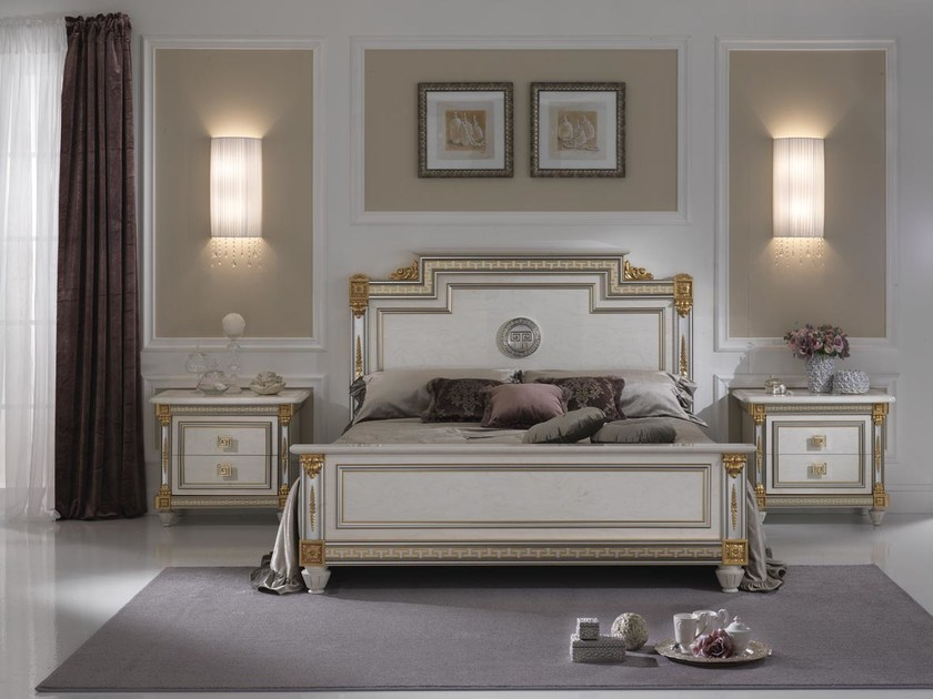 Art Nouveau double bed with high headboard LIBERTY   Bed by Arredoclassic