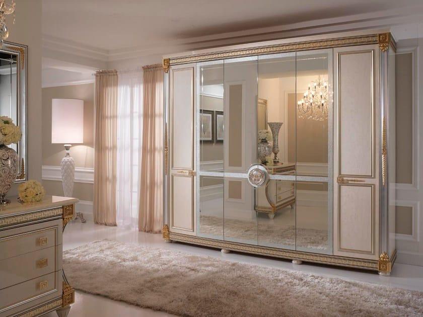 Art Nouveau mirrored wooden wardrobe LIBERTY | Wardrobe by Arredoclassic