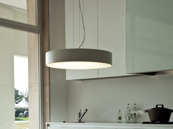 Painted metal pendant lamp LEA by Lucente