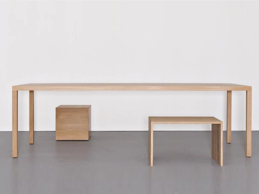 Solid wood table DINANULL by Sanktjohanser