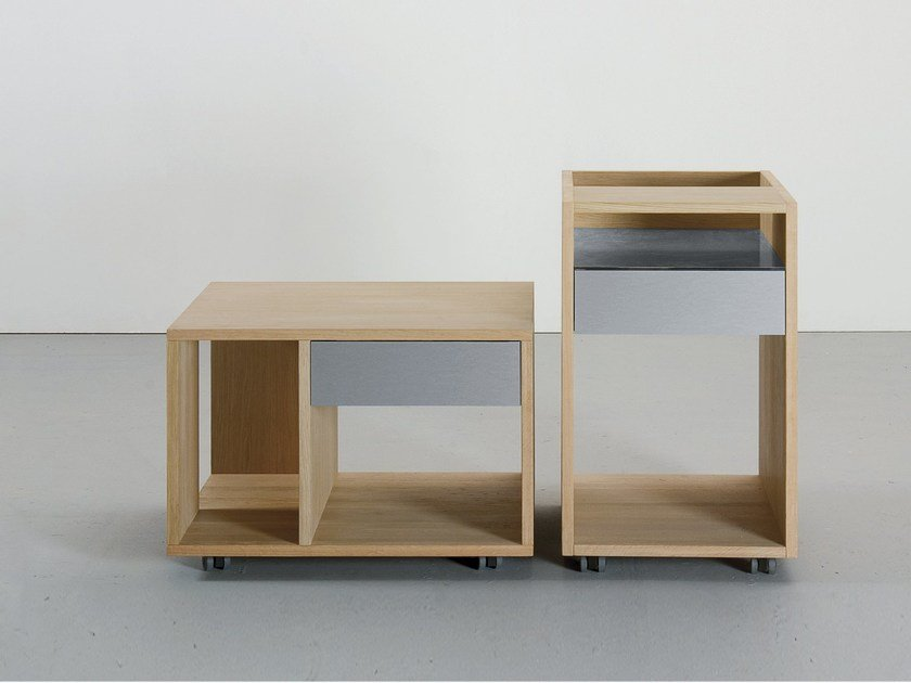 Solid wood coffee table with casters DEPOT X by Sanktjohanser