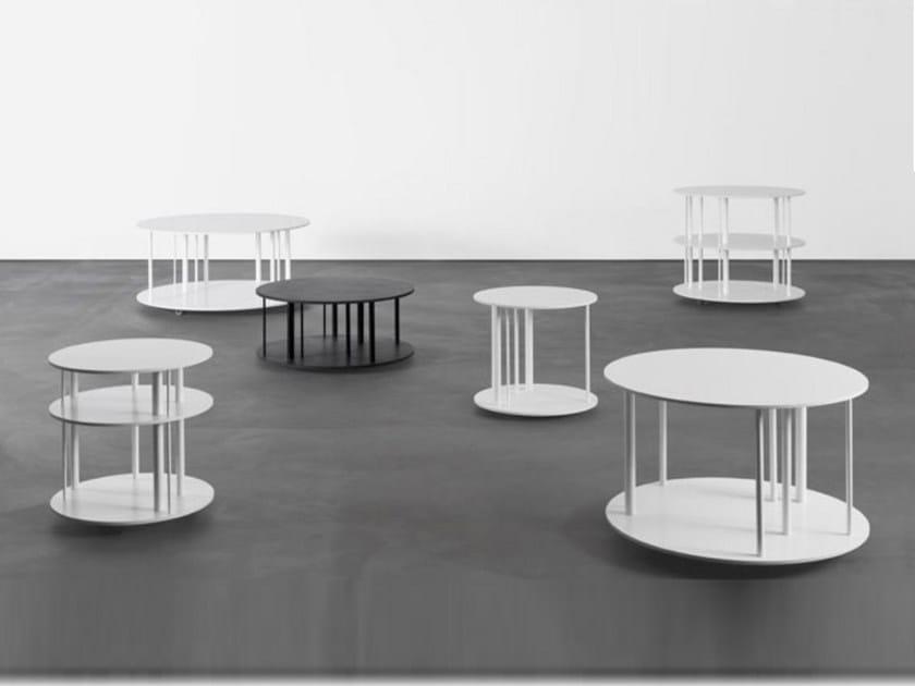 Aluminium coffee table PI by Sanktjohanser