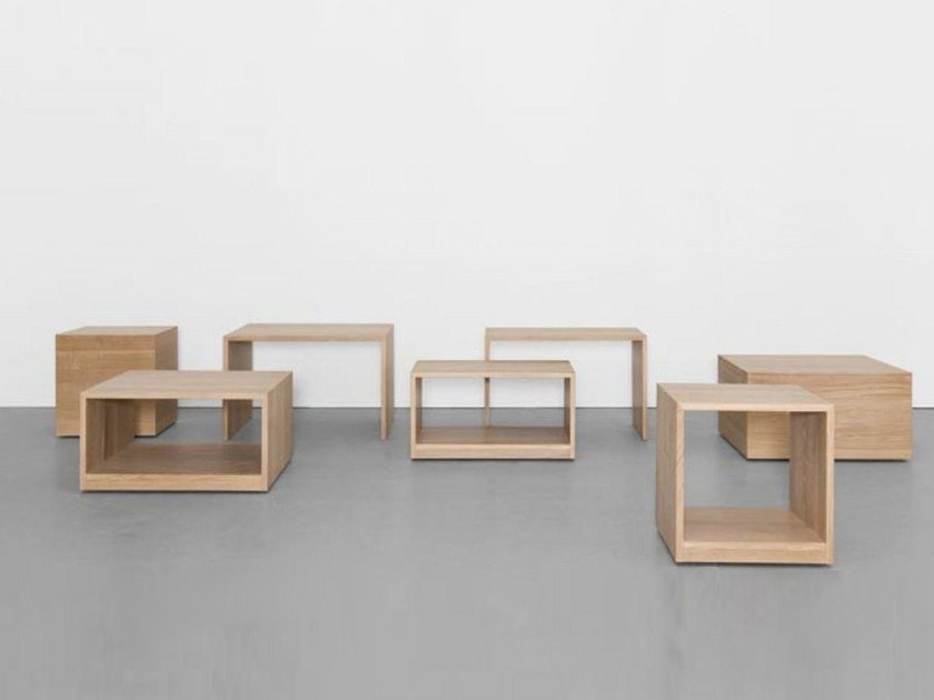Solid wood stool / coffee table RELIKT by Sanktjohanser