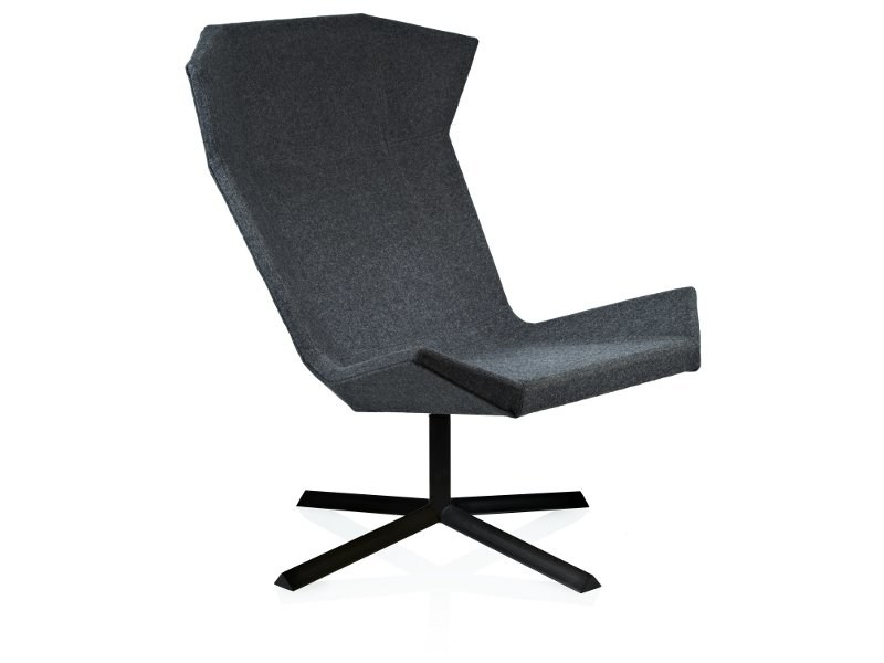 High-back armchair with 4-spoke base STEALTH by Johanson Design