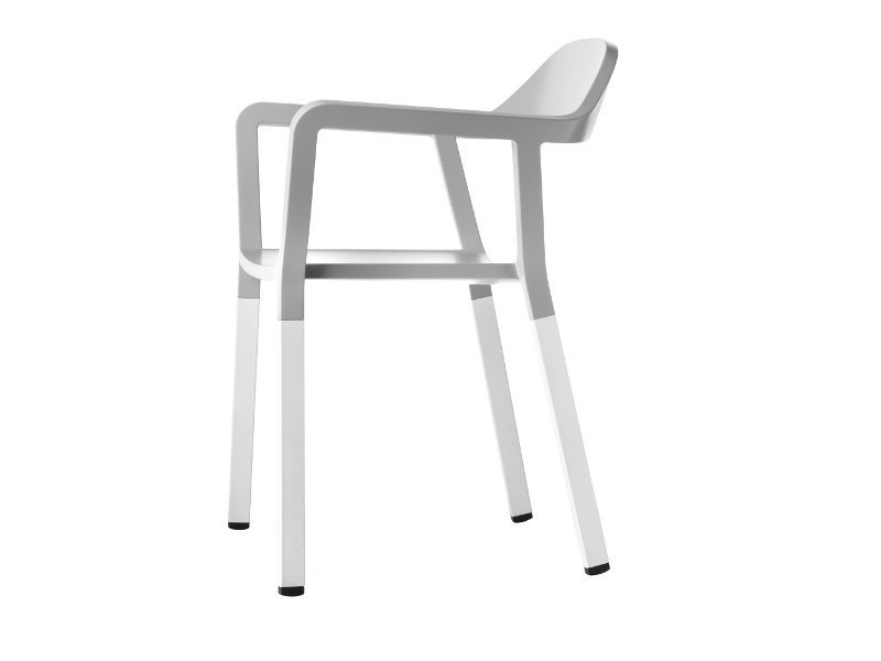 stackable chair with armrests p77 by johanson design design