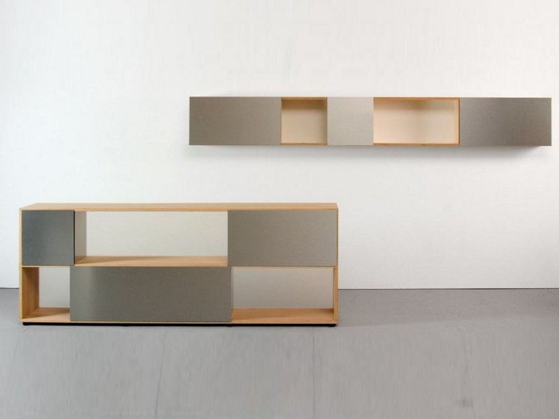 Horizontal wall cabinet with sliding doors WANDREGAL by Sanktjohanser