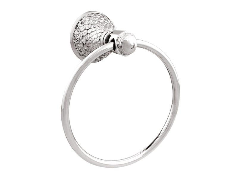DRAGON | Porta asciugamani ad anello con cristalli Swarovski® 059073 chrome