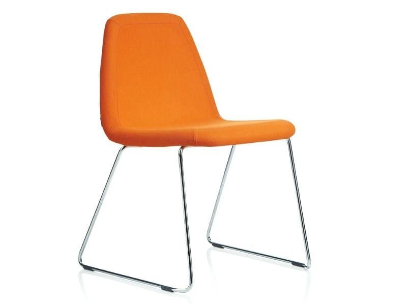 Sled base upholstered chair SPORT | Sled base chair by Johanson Design