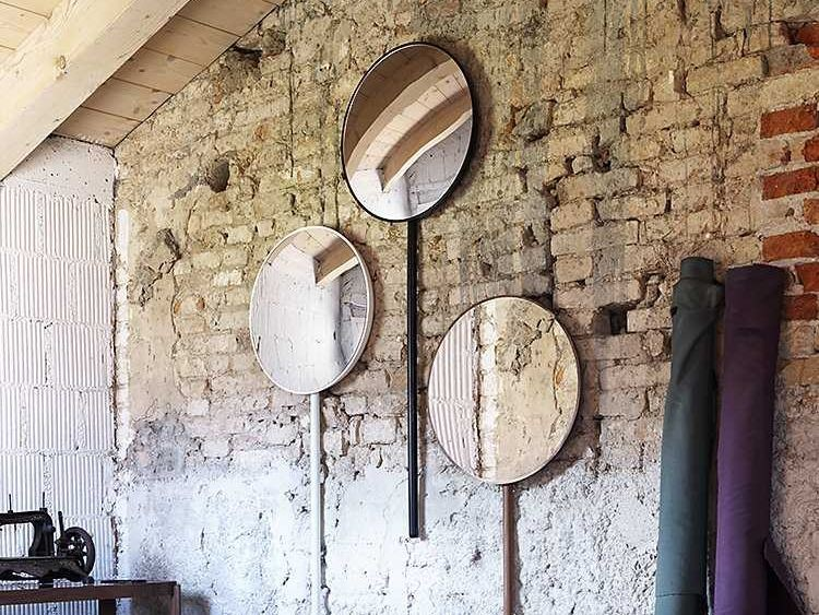 Wall-mounted round mirror RETROVISEUR DOMESTIQUE by Miniforms