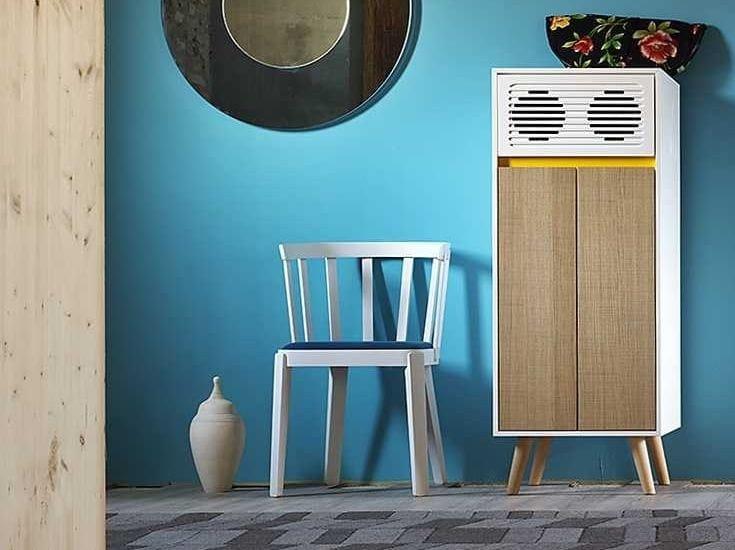 Storage unit with built-in speakers SKAP   Storage unit by Miniforms