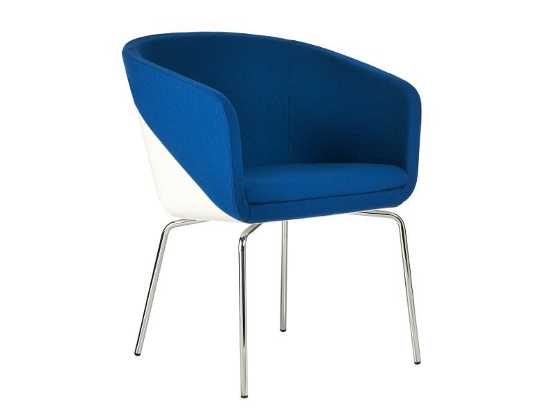 Upholstered easy chair with armrests CABIN | Easy chair by Johanson Design