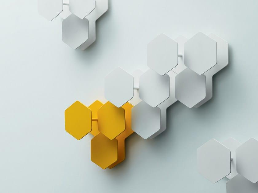 Wall-mounted steel coat rack LEAF by Miniforms