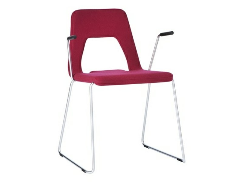 Sled base chair with armrests STUDIO WA by Johanson Design