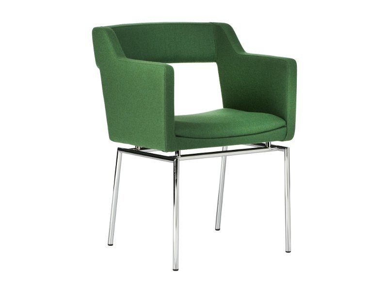 Upholstered chair with armrests KENNEDY | Chair by Johanson Design