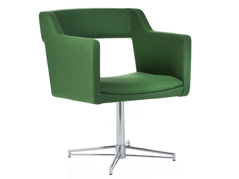 Chair with 4-spoke base with armrests KENNEDY | Chair with 4-spoke base by Johanson Design