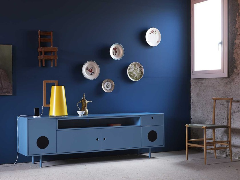 Lacquered sideboard with doors CAIXA by Miniforms