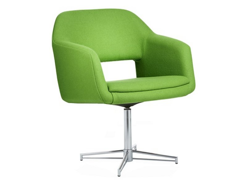 Upholstered easy chair with 4-spoke base LARGO | Easy chair with 4-spoke base by Johanson Design