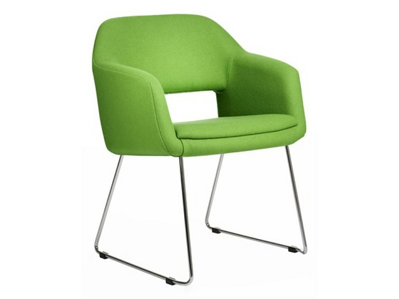 Sled base fabric easy chair LARGO   Sled base easy chair by Johanson Design