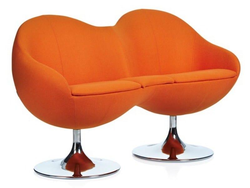 Fabric small sofa COSMOS by Johanson Design