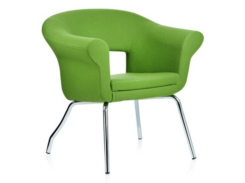Fabric guest chair with armrests CUBA | Easy chair by Johanson Design