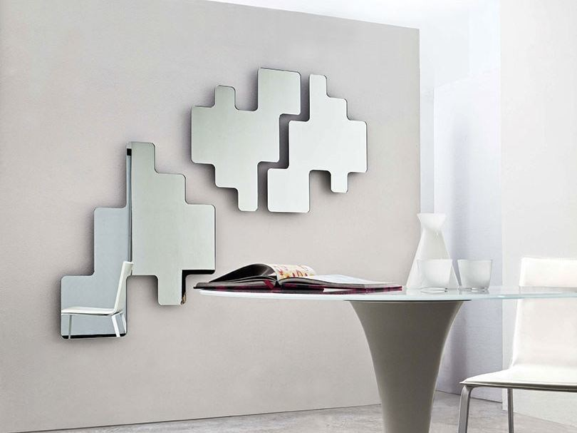 Wall-mounted mirror LEGO by Sovet italia