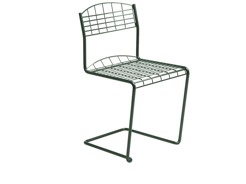 Cantilever wire mesh garden chair HIGH TECH | Garden chair by Grythyttan