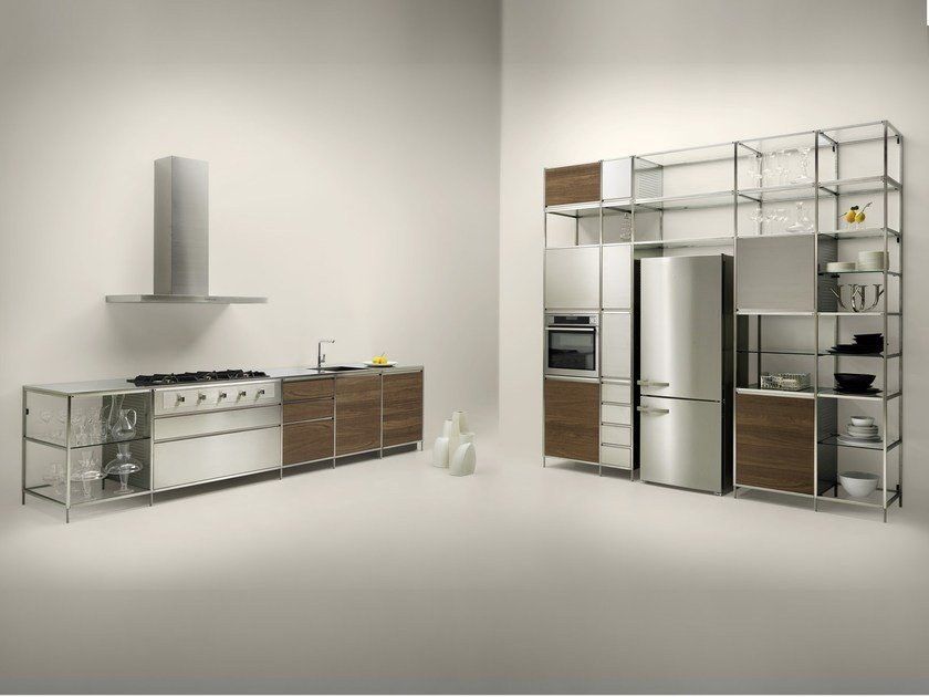 Metal kitchen MECCANICA by VALCUCINE