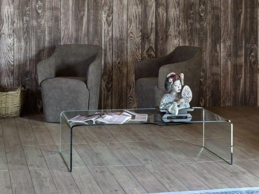 Glass side table CURVO by Miniforms