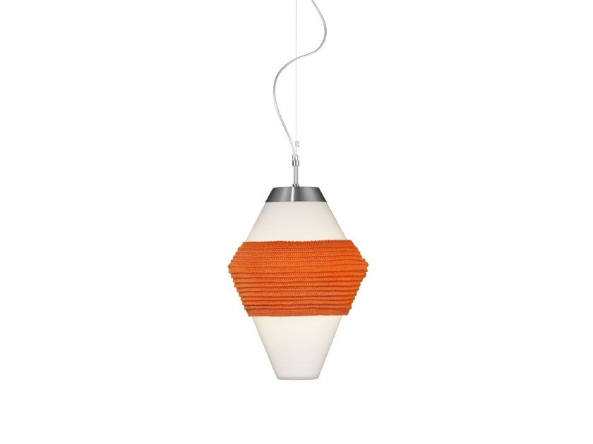 Glass pendant lamp CONE by Örsjö Belysning