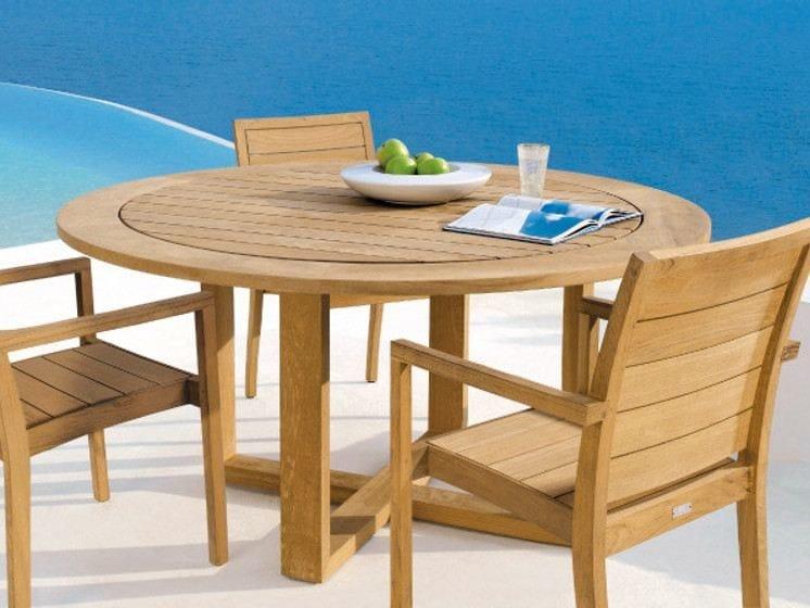 siena runder tisch by manutti. Black Bedroom Furniture Sets. Home Design Ideas