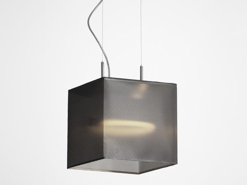 Chrome plated pendant lamp LANTERN CUBE by Örsjö Belysning