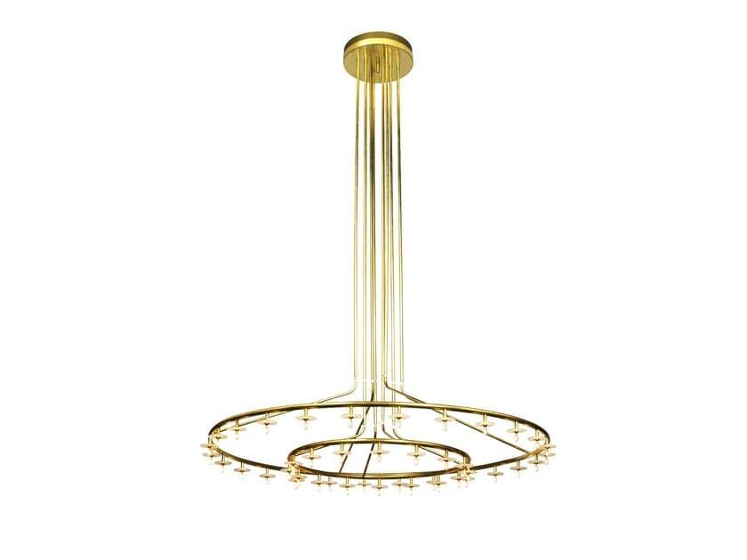 Brass chandelier STARDUST by Örsjö Belysning
