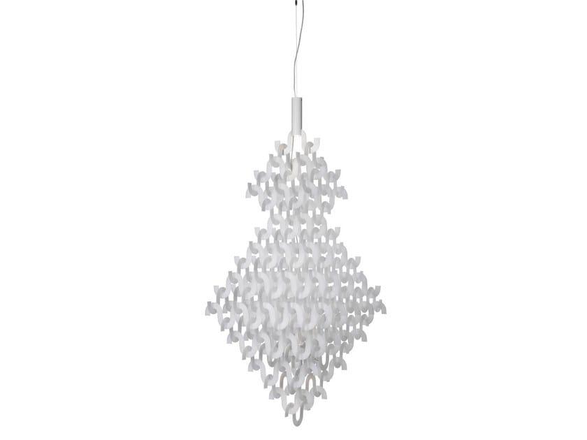Acrylic chandelier U FORM BIG by Örsjö Belysning