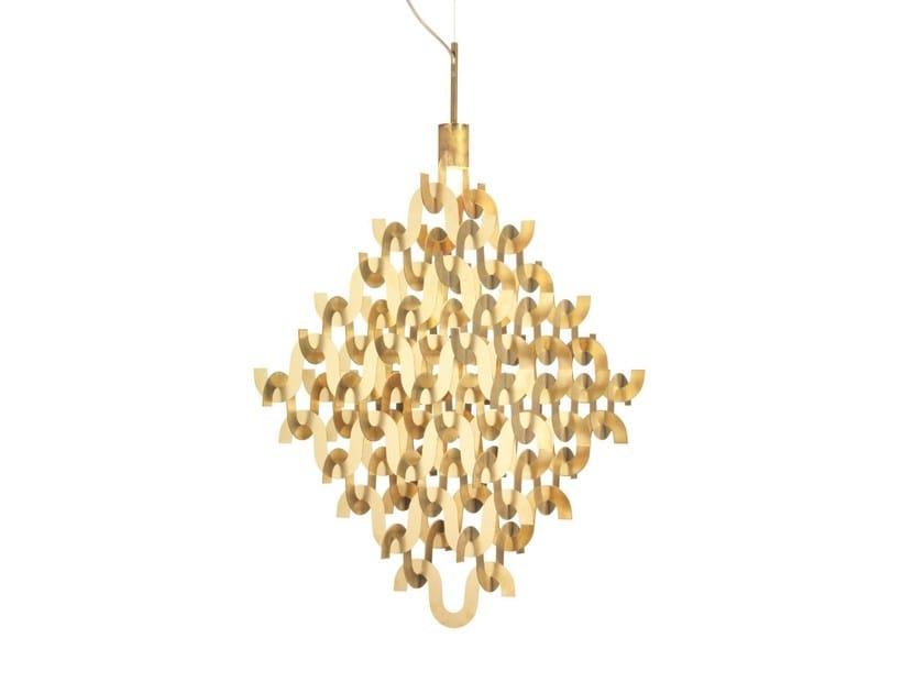 Brass chandelier U FORM SMALL | Brass chandelier by Örsjö Belysning