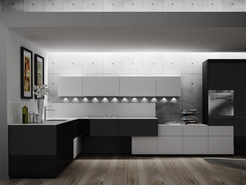 Lacquered fitted kitchen ARTEMATICA PIGMENTUS by VALCUCINE