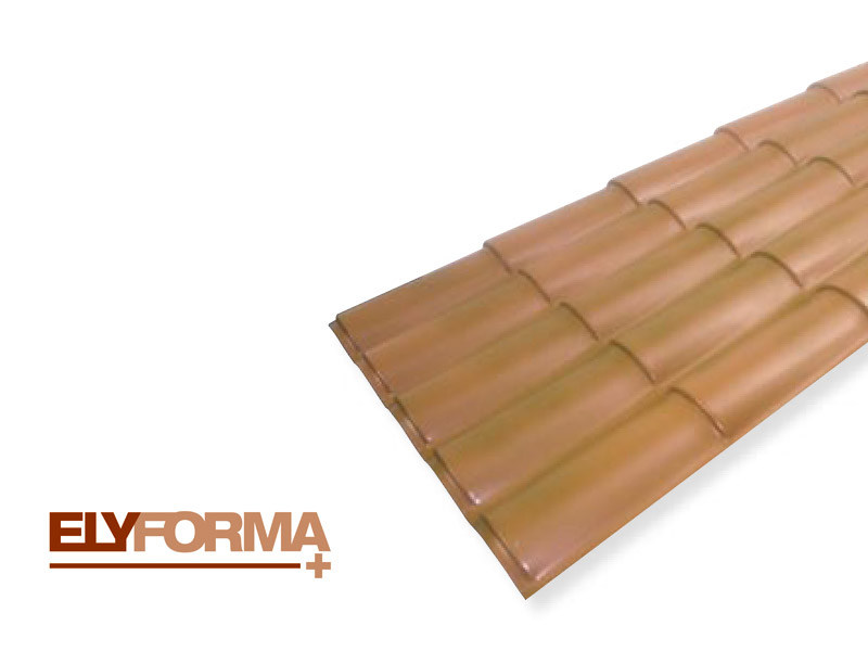 Roof panel in opaque plastic laminate ELYFORMA+® by Brianza Plastica