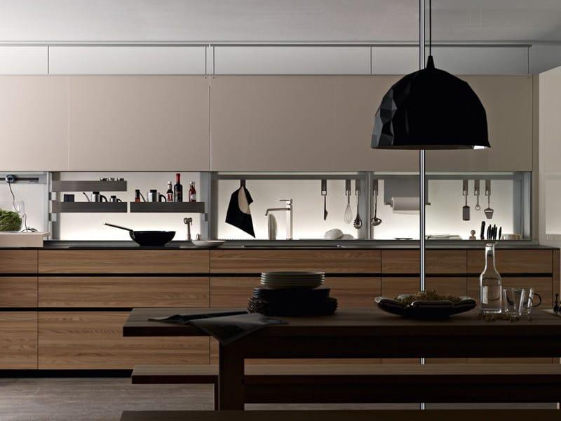 Elm fitted kitchen ARTEMATICA OLMO TATTILE by VALCUCINE