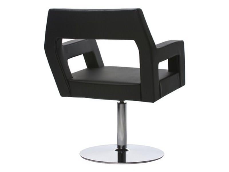 Swivel leather easy chair NEMO | Swivel easy chair by Johanson Design
