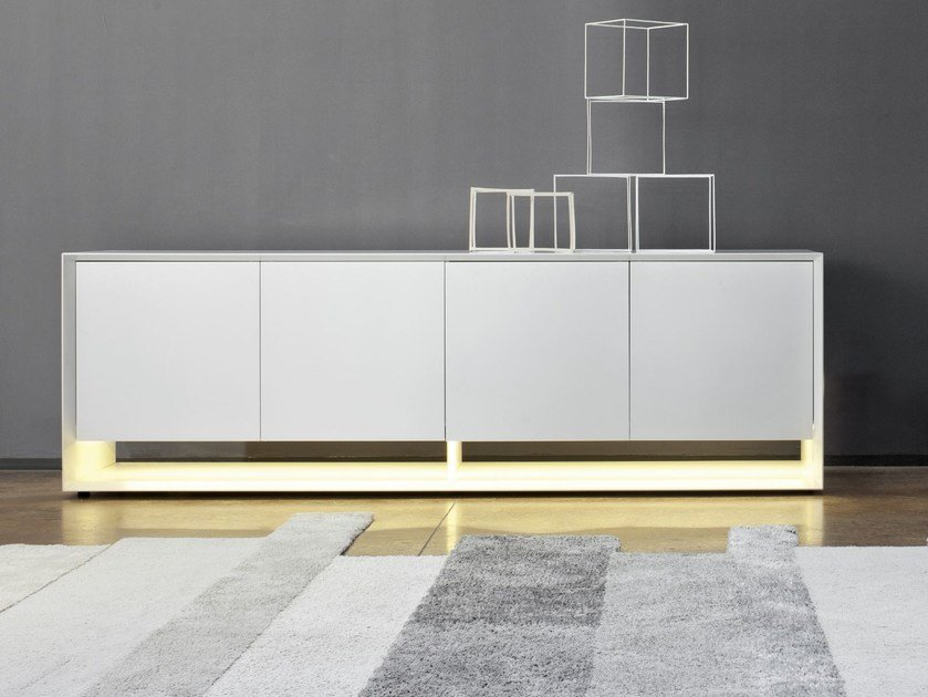 Lacquered sideboard with doors SUNRISE LIGHT by Bonaldo