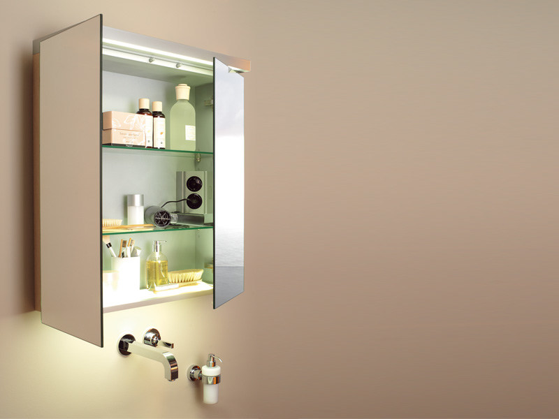 Storage bathroom cabinet with mirror FOGO | Bathroom cabinet with mirror by Duravit