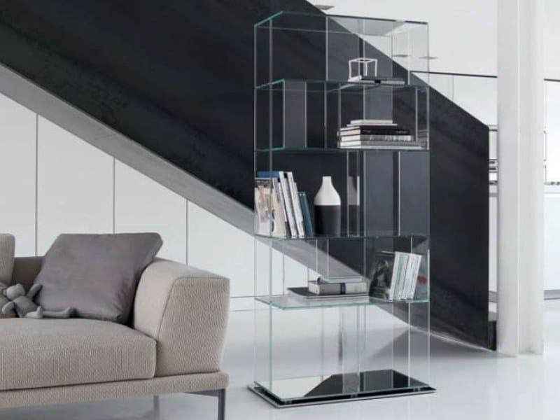Crystal bookcase B-CUBIC by Bonaldo