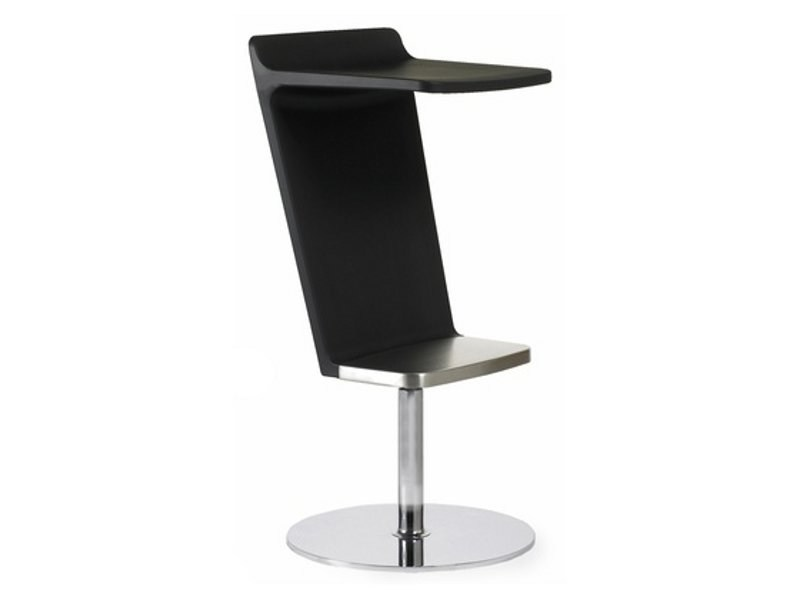 Swivel height-adjustable barstool LEVEL | Height-adjustable stool by Johanson Design