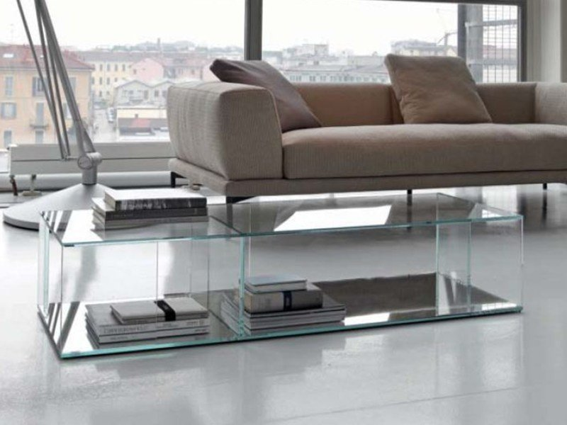Crystal coffee table FOLIO by Bonaldo