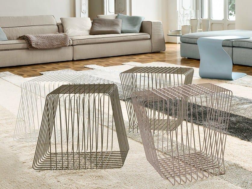 Steel coffee table ICOSÌ by Bonaldo