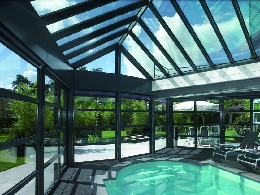 Sistema in alluminio a taglio termico per verande e tetti Concept Roof 120 by Reynaers Aluminium