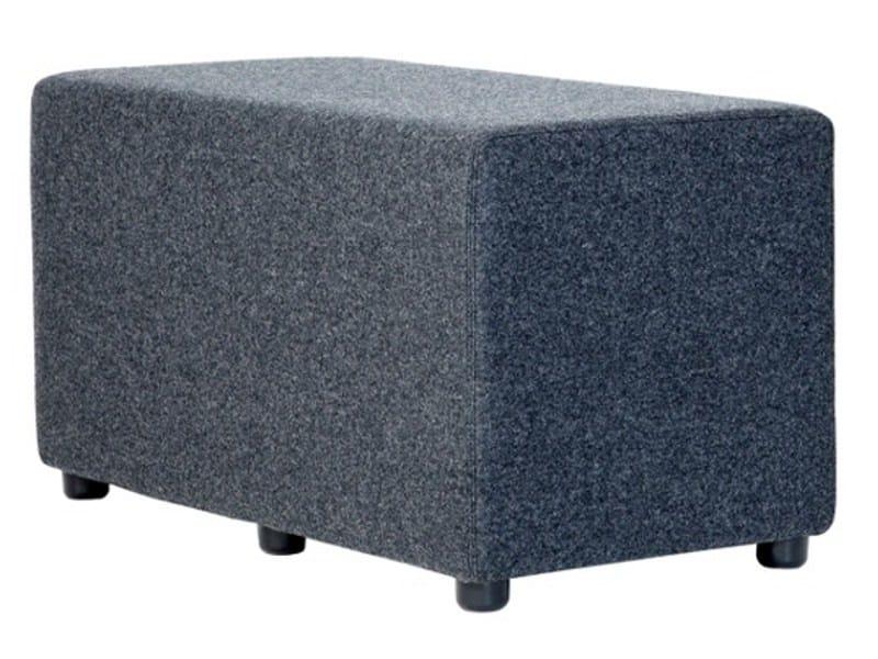 Upholstered fabric pouf BULL by Johanson Design