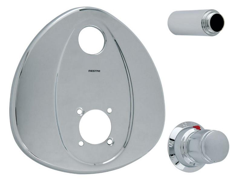 2 hole thermostatic shower mixer Thermostatic shower mixer by Bronces Mestre