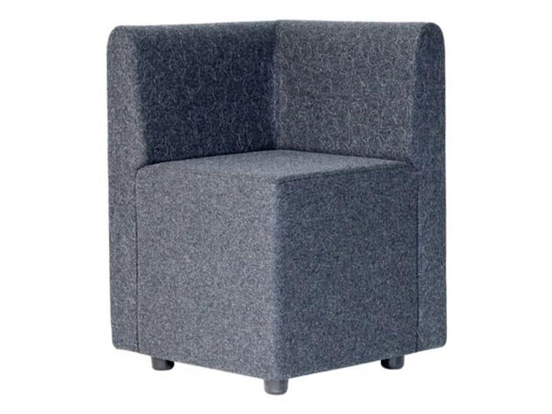 Corner modular guest chair BILL W CORNER BACK by Johanson Design