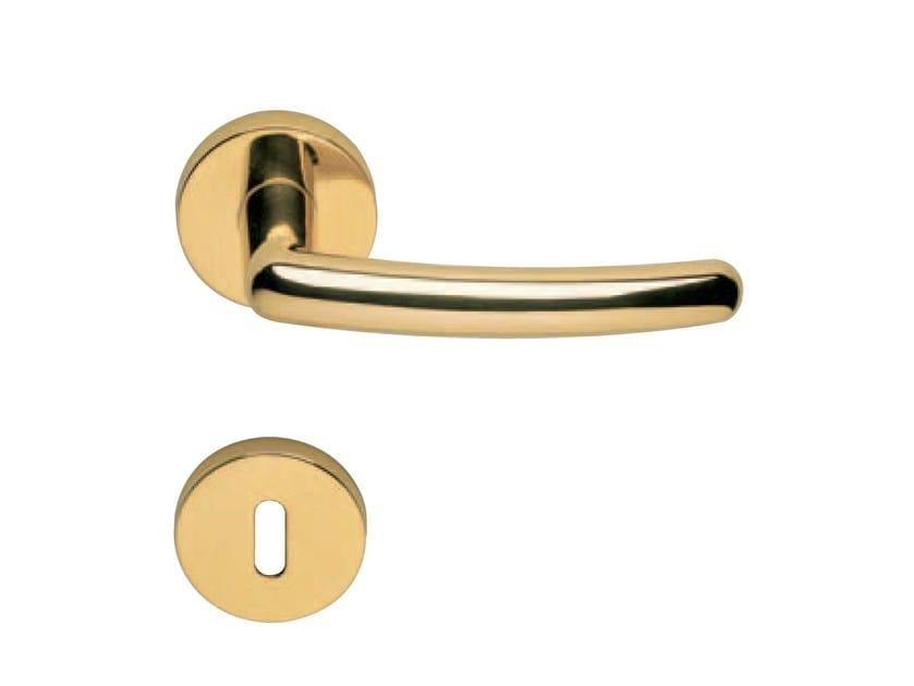 Door handle on rose with lock BRUGES | Door handle on rose by RDS